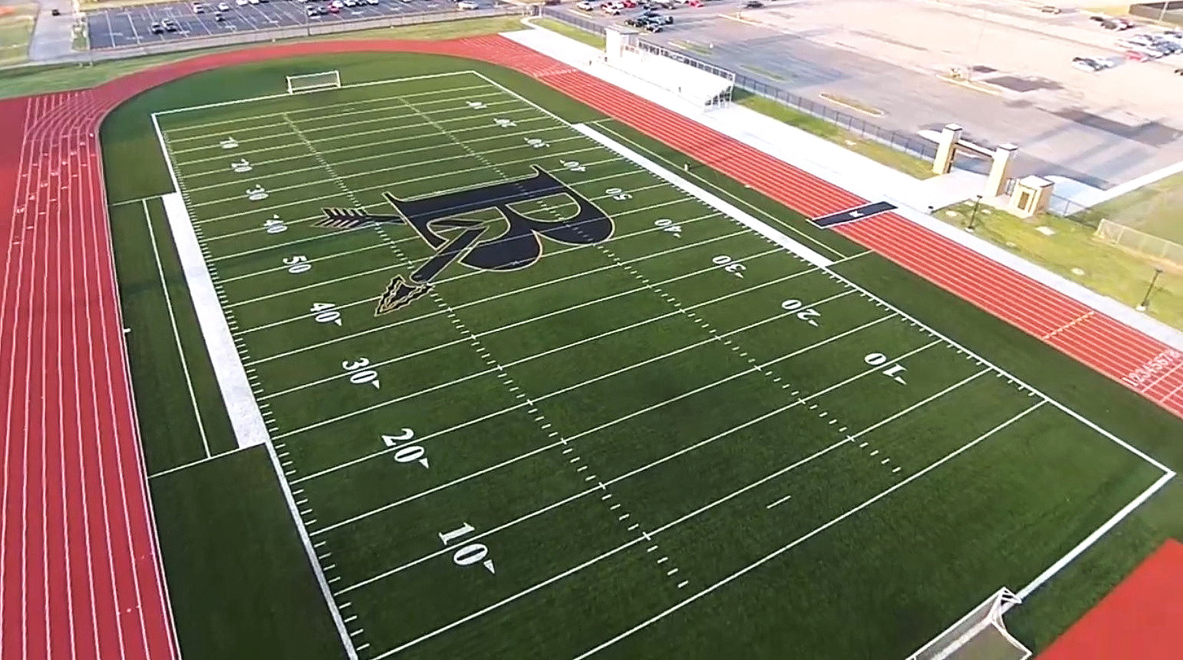 Broken arrow indoor football and wallace engineering for Sport court cost per square foot
